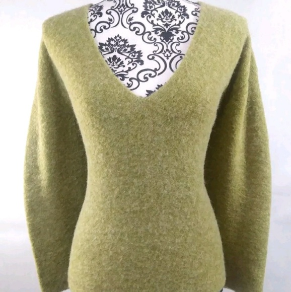 38c82e2d2f7 Eileen Fisher Sweaters - Women s Eileen Fisher Green Alpaca Wool Sweater